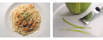 Spagetti with Lime and Shrimps