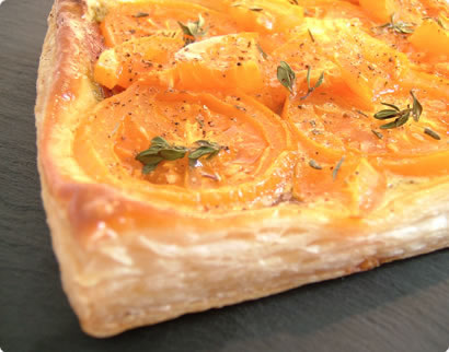 Orange Tomato and Thyme Tart