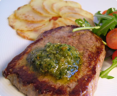 Steak & Potato Carpaccio & Pesto