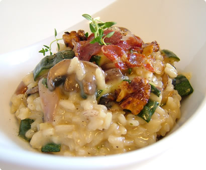 Risotto with roasted vegetables