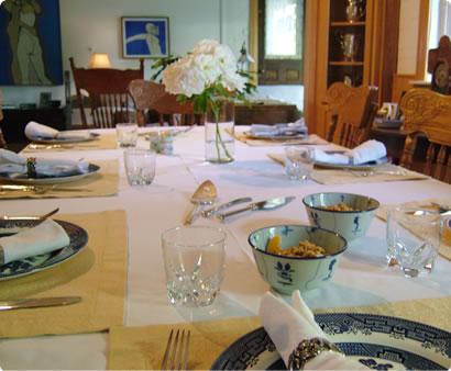Breakfast Table at the Gable House