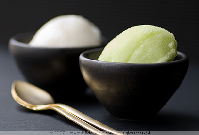 Two kinds of sorbet
