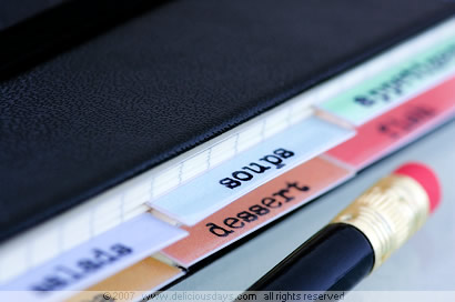 Moleskine recipe book