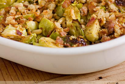 Oven-baked Brussels sprouts