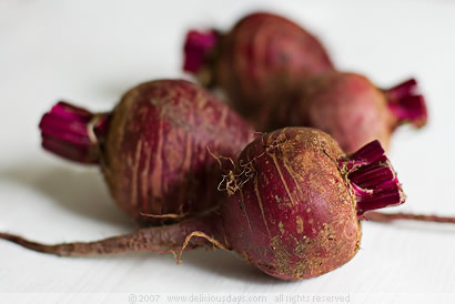 ...and red beets...